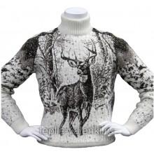 Свитер с оленем из шерсти ламы Артикул SVI121