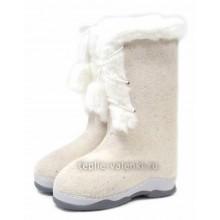 Валенки белые со шнуровкой Артикул J107P