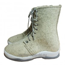 Войлочные ботинки со шнуровкой Артикул V431