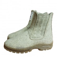 Войлочные ботинки мужские на молнии Артикул V436
