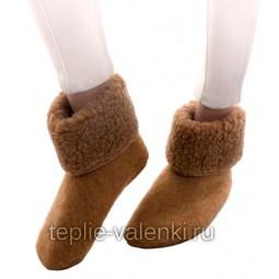 Носки шерстяные шоколадные Артикул N202