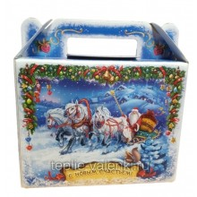 Фирменная подарочная коробочка синяя Артикул P704
