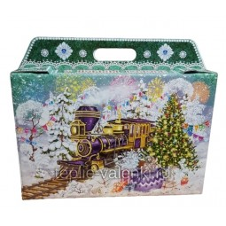 Фирменная подарочная коробочка зеленая Артикул P705