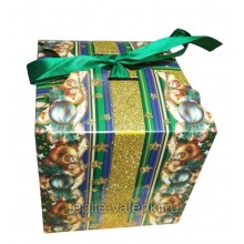 Фирменная подарочная коробочка зеленая Артикул P703