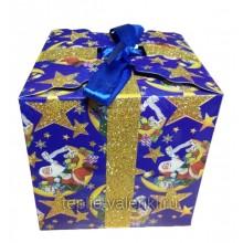 Фирменная подарочная коробочка синяя Артикул P702