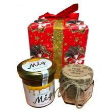 Подарочный набор мед+варенье из шишек PD201
