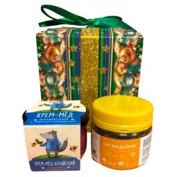 Подарочный набор крем-мед+чай PD202