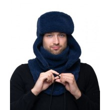 Шапка ушанка синий цвет Артикул S734