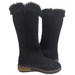 Войлочные сапожки черные Артикул V402