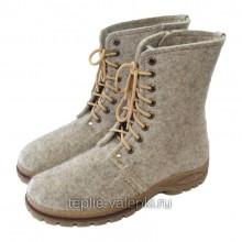 Войлочные ботинки мужские на молнии Артикул V438